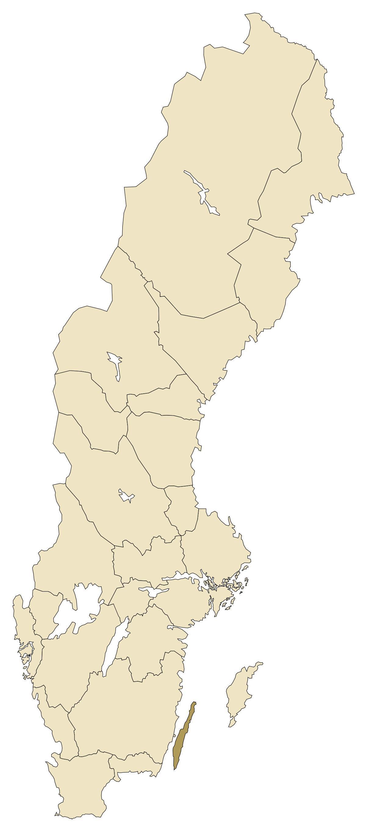 Oolannista Ruotsi Kartta Kartta Oolannista Ruotsi Pohjois