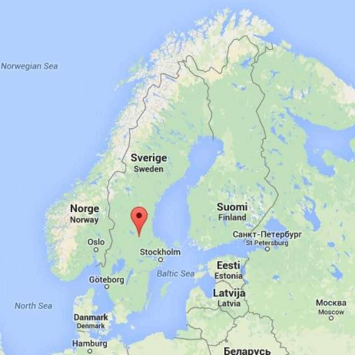 Falun Ruotsi Kartta Kartta Falun Ruotsi Pohjois Eurooppa