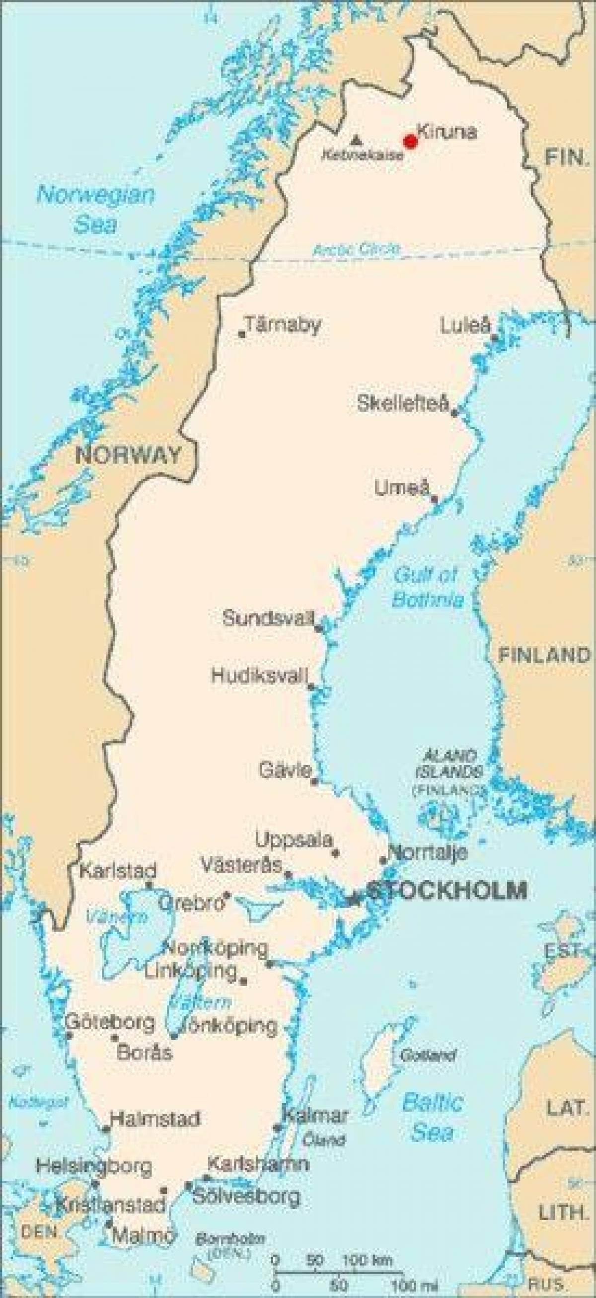 Kiruna Ruotsi Kartta Kartta Kiruna Ruotsi Pohjois Eurooppa