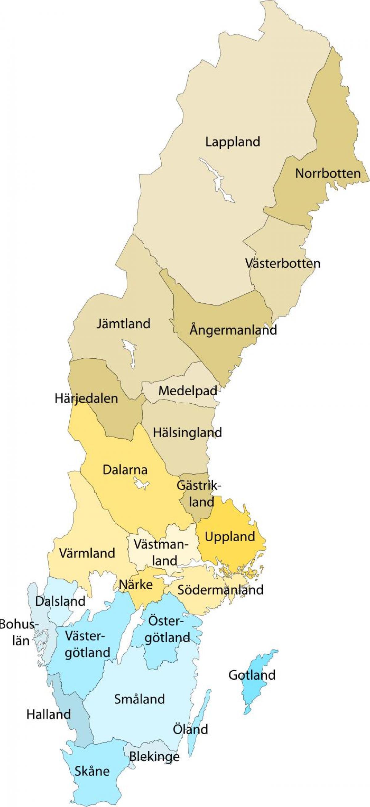 Lapin Ruotsi Kartta Kartta Lapin Ruotsi Pohjois Eurooppa