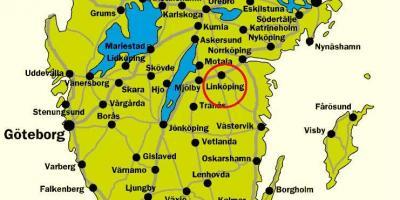 Etela Ruotsi Kartta Kartta Etela Ruotsissa Pohjois Eurooppa